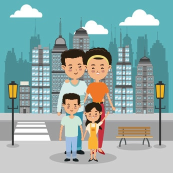 Chinese Family with 2 kids