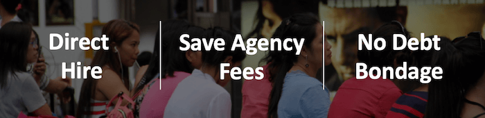 No placement fees for helpers